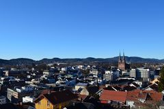 Widok nad Skien Zdjęcie Royalty Free