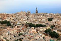 Widok nad starym miasteczkiem Toledo, Hiszpania Obraz Royalty Free