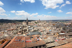 Widok nad starym miasteczkiem Toledo, Hiszpania Zdjęcia Stock