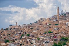 Widok nad starym miastem Mardin, Turcja obraz stock