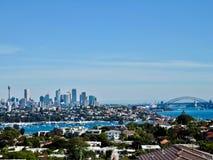 Widok nad Sydney śródmieściem zdjęcie stock