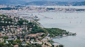 Widok nad Trieste zdjęcia royalty free