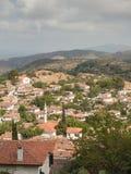 Widok nad turecką wioską Sirince Zdjęcie Stock