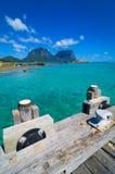 Widok nad władyki Howe wyspy laguną Zdjęcie Stock
