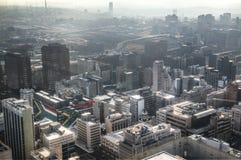 Widok nad w centrum Johannesburg w Południowa Afryka Obraz Royalty Free