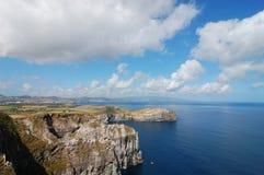 Widok nad wybrzeżem Azores fotografia stock
