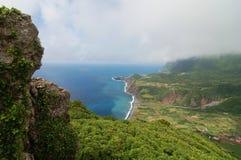 Widok nad wybrzeżem Azores Obrazy Stock