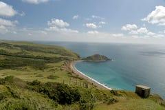 Widok nad wybrzeżem od Povington wzgórza Zdjęcie Royalty Free