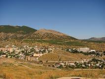 Widok nadmorski miasteczko od wzrosta obrazy stock