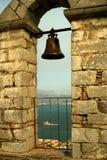 Widok Nafplion od Palamidi Fortecy, Grecja Zdjęcie Royalty Free
