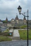 Widok Najwięcej kasztelu Kamianets-Podilskyi i Zamkowy Obraz Royalty Free