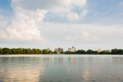 Widok Nakornsawan Tajlandia, Nhongsombun Zdjęcie Stock