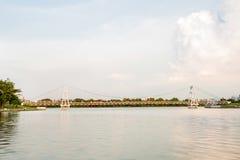 Widok Nakornsawan Tajlandia, Nhongsombun Fotografia Royalty Free