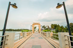Widok Nakornsawan Tajlandia, Nhongsombun Zdjęcia Royalty Free