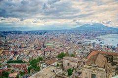 Widok Naples, Włochy Zdjęcie Stock