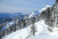Widok narciarstwo teren fotografia royalty free