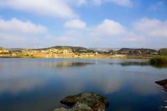 Widok naturalny jezioro w Phrygian dolinie w Afyon Obrazy Royalty Free