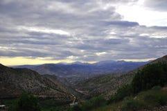 Widok Nemrut góry, półmrok zdjęcie royalty free