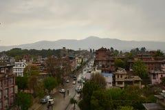 Widok Nepal ` s Kathmandu kapitał Zdjęcia Stock