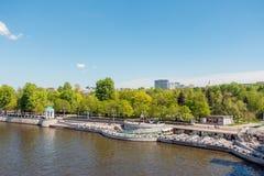 Widok Neskuchny ogród od Novoandreevsky mosta Obrazy Stock