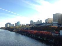 Widok Newark od Bridżowego ulica mosta Fotografia Stock