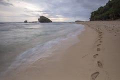 Widok Ngandong plaża, Gunung kidul Obraz Royalty Free