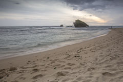Widok Ngandong plaża, Gunung kidul Obrazy Royalty Free