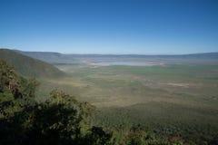 Widok Ngorongoro kaldera zdjęcia royalty free