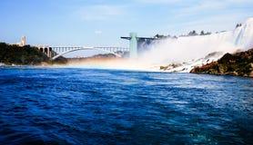 Widok Niagara spada w Canada od łodzi Obrazy Stock