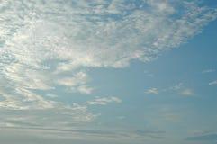 Widok niebo w ranku Zdjęcie Royalty Free