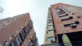 Widok niektóre budynki spod spodu zdjęcia royalty free