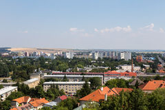 Widok Nitra miasto w Sistani Nitra populaci abou zdjęcie stock