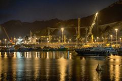 Widok noc port Obrazy Stock