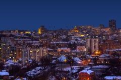 Widok nocy miasto Zdjęcie Royalty Free