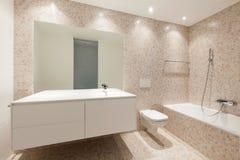 Widok nowożytna łazienka zdjęcie stock