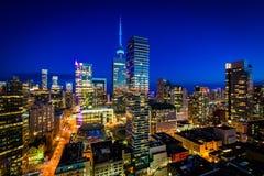 Widok nowożytni budynki przy zmierzchem w w centrum Toronto, Ontari Zdjęcia Royalty Free