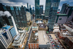 Widok nowożytni budynki w w centrum Toronto, Ontario Zdjęcia Royalty Free