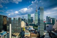 Widok nowożytni budynki w w centrum Toronto, Ontario Fotografia Stock