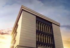 Widok nowożytny szklany budynku drapacz chmur Obrazy Royalty Free