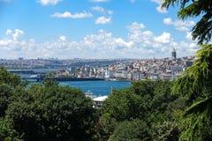 Widok Nowy Istanbuł i Galata wierza Fotografia Stock