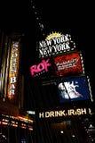 Widok Nowy Jork Nowy Jork kurortu i kasyna teren obraz stock