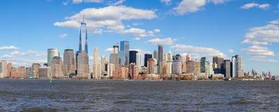 Widok Nowy Jork od Dżersejowego miasta, Nowy - bydło Zdjęcie Stock