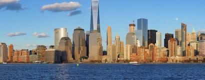 Widok Nowy Jork od Dżersejowego miasta, Nowy - bydło Zdjęcia Stock