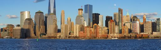 Widok Nowy Jork od Dżersejowego miasta, Nowy - bydło Obrazy Stock