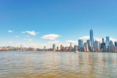 Widok Nowy Jork od Dżersejowego miasta Fotografia Royalty Free
