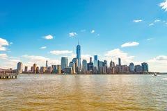 Widok Nowy Jork od Dżersejowego miasta Obrazy Stock
