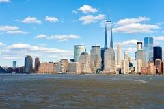 Widok Nowy Jork od Dżersejowego miasta Zdjęcia Royalty Free