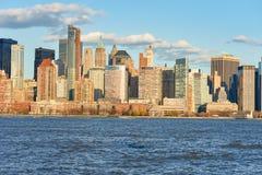 Widok Nowy Jork od Dżersejowego miasta Zdjęcie Stock
