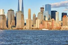 Widok Nowy Jork od Dżersejowego miasta Fotografia Stock