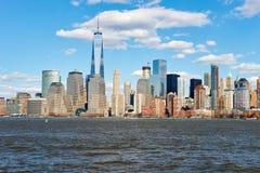 Widok Nowy Jork od Dżersejowego miasta Obraz Stock